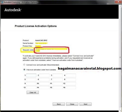 autocad 2012  with activation code