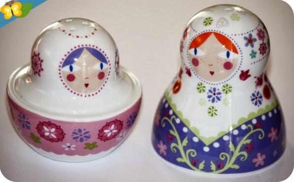 """salière/poivrière """"Russian Doll"""" par Multiple Choice"""