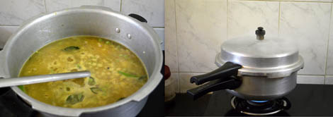 vegetable khichdi in pressure cooker