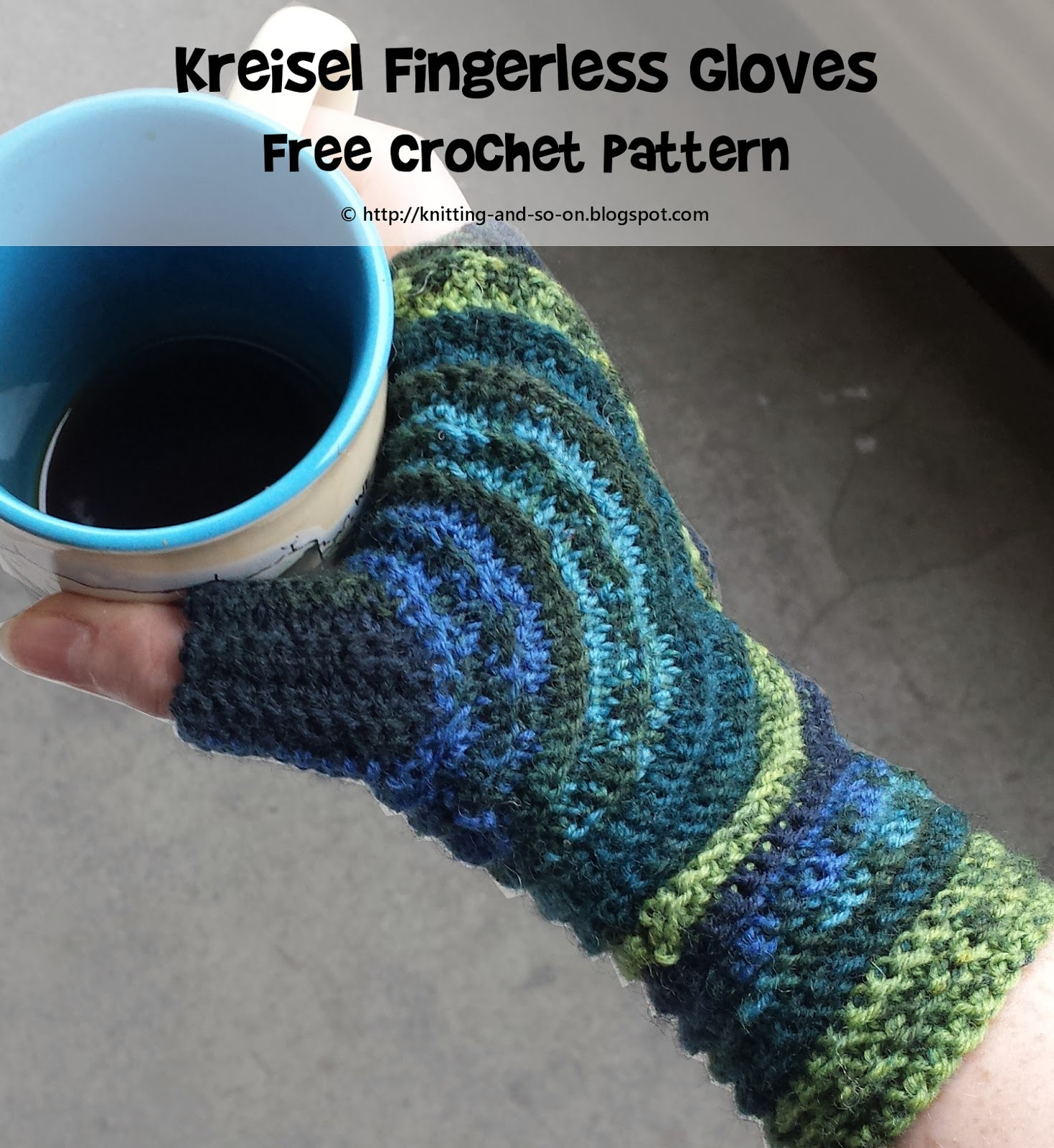 Knitting and so on: Kreisel Fingerless Gloves