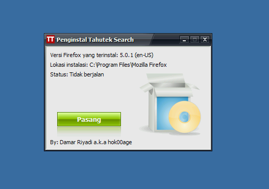 Installer Tahutek Search di Windows
