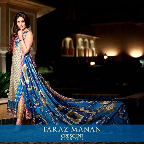 FarazMananCrescentLawn2014 wwwfashionhuntworldblogspotcom 22 - Faraz Manan Crescent Lawn 2014