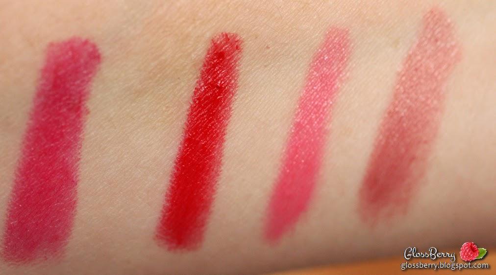 revlon colorburst just bitten balm stain rimmel color colour rush intense lacquer balm cocquette honey rumor rumour has it the redder the better review swatch lips lipstick lipbalm רימל רבלון צ'אבי סטיין אדום ורוד קיץ סקירה סווטץ' שפתיים