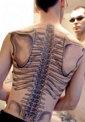 Tatuaje de huesos