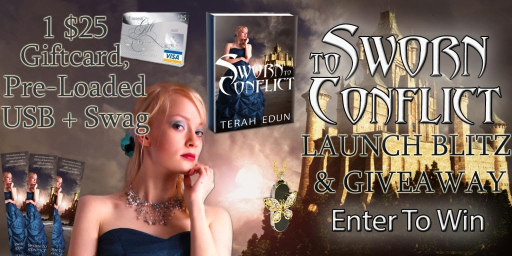 Sworn to Conflict (Courtlight #3) Book Blitz and Giveaway (many different prizes) ends 3/8