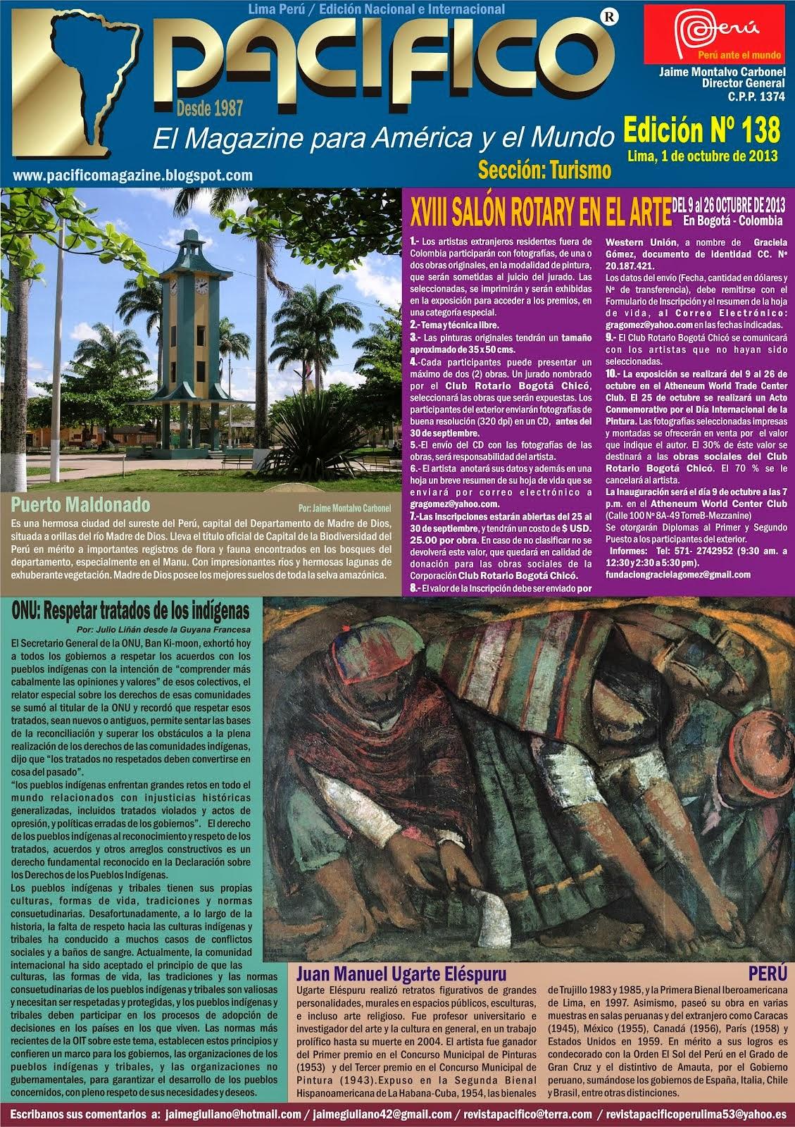 Revista Pacífico Nº 138 turismo