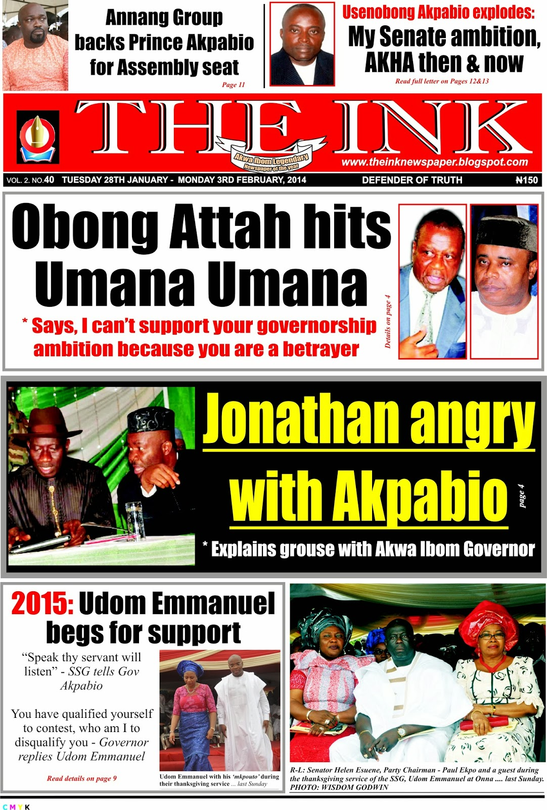 THE INK NEWSPAPER UYO, AKWA IBOM STATE