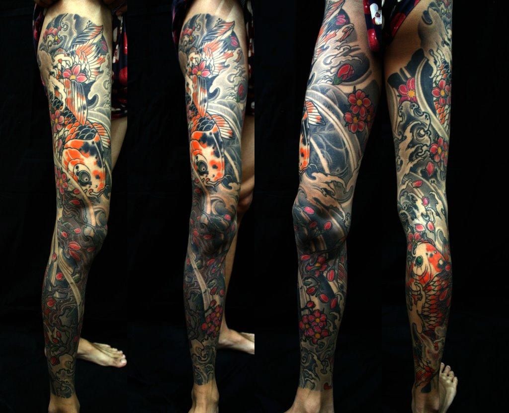 Koi Tattoo Leg
