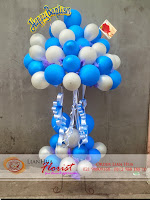 jual standing balon mewah, rangkaian bunga & balon, karangan bunga kelahiran bayi, toko bunga di jakarta, bunga ulang tahun