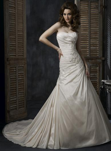 Perfect Light Gold Soft Wedding Dress