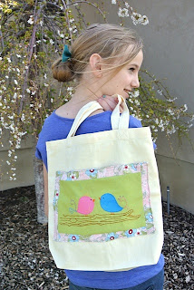 meags and me Quiltmaker 100 blocks Tote Bag with Pocket