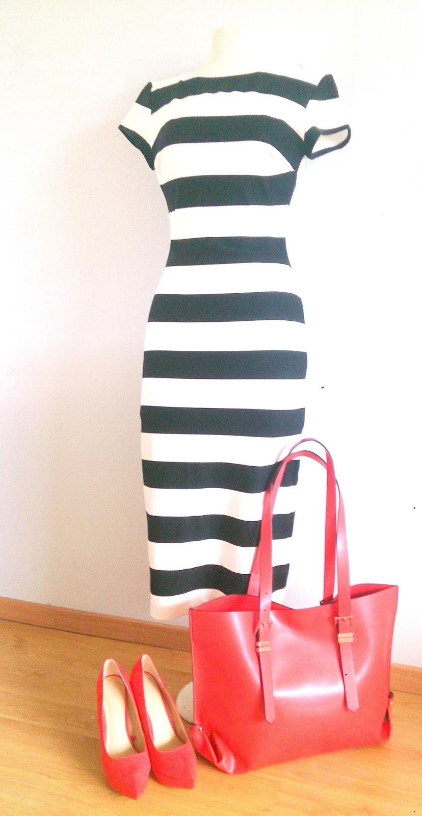Zwart witte jurk zara