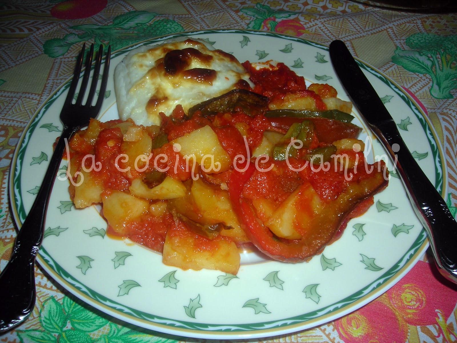 La cocina de camilni bacalao gratinado con patatas y tomate for Cocina bacalao con patatas