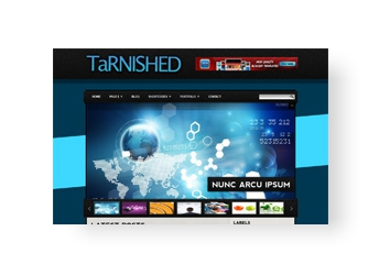 Tarnished Blogger Template slider, video by sora templates