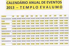 Eventos 2013 - Templo Evalumo
