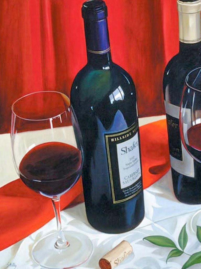 Im genes arte pinturas bodegones con botellas de vino en - Botelleros de vino ...
