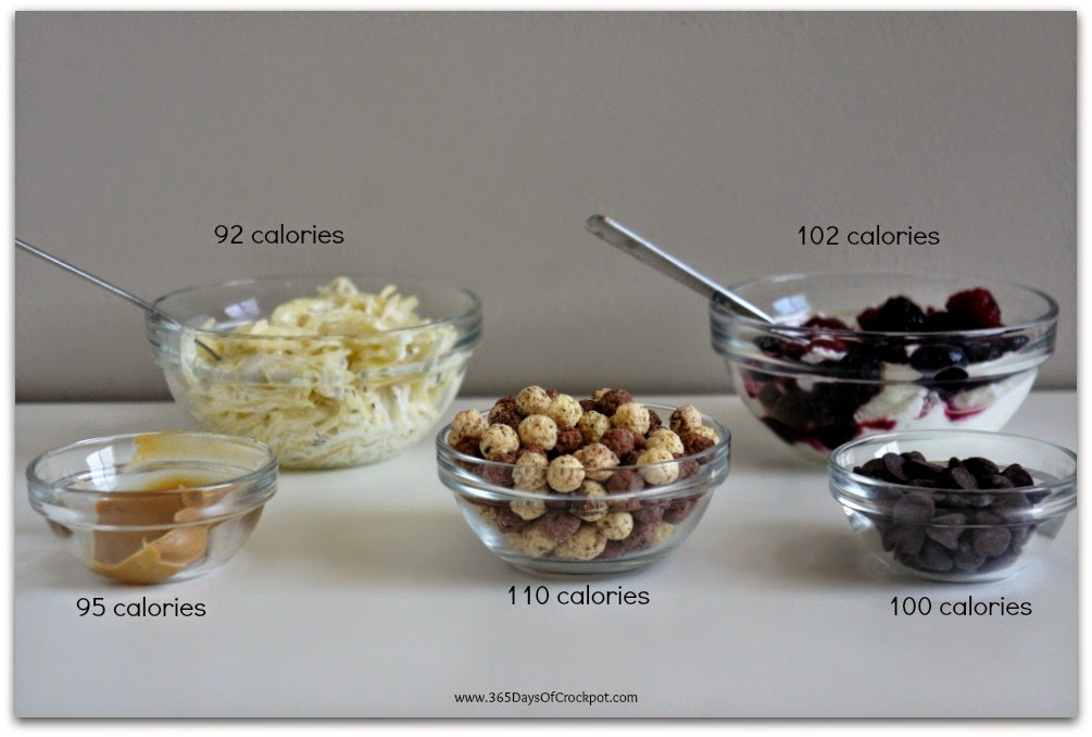 which foods would you rather eat? grab healthy and lower calories items and you can eat more!