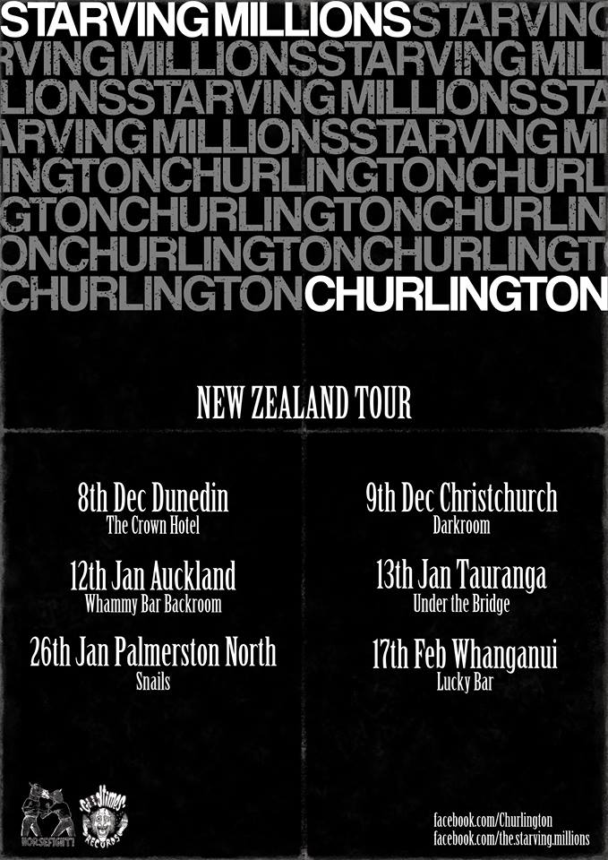 Starving Million/Churlington NZ Tour