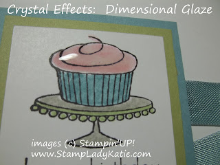 Card made with Stampin'UP! Stamp Set: Easy Events and Crystal Effects.