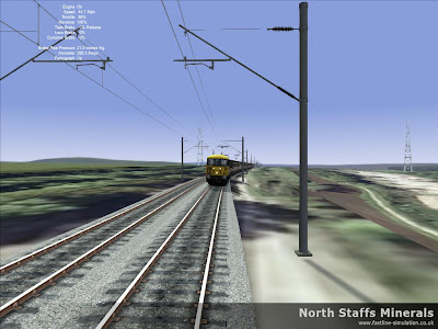 Fastline Simulation - North Staffs Minerals: A Class 86 leans into the curve with a northbound express.