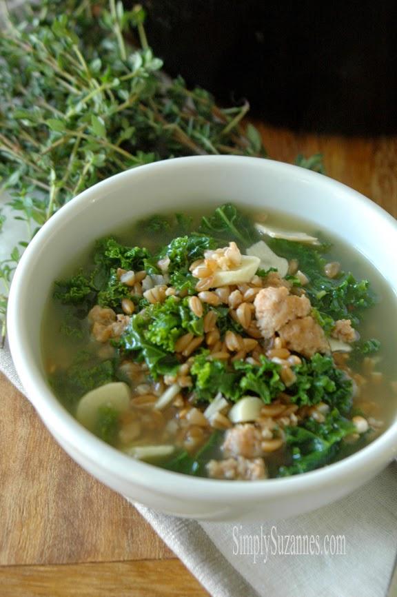 farro & kale stew