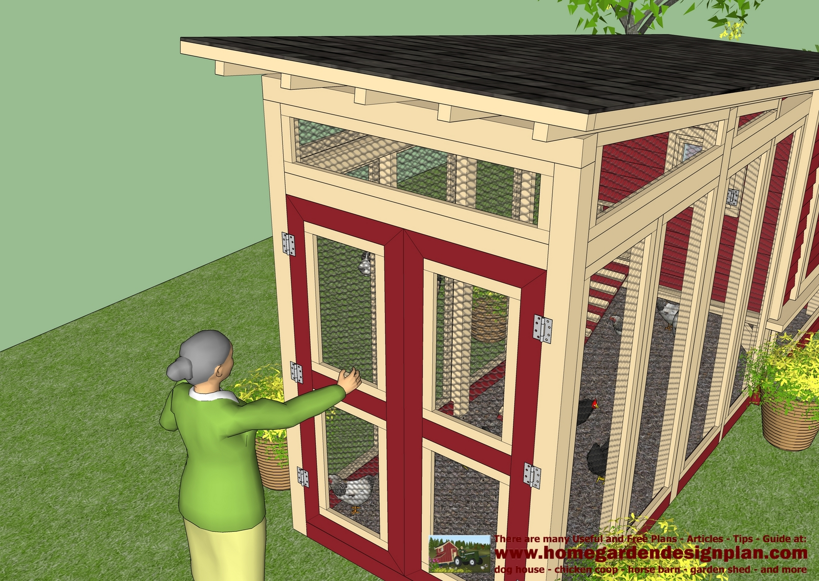 Farm chicken diy chicken coop plans for building a for Chicken house designs free