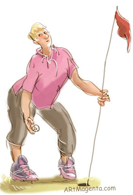 Hole in one, a cartoon by Artmagenta.