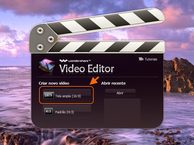 Wondershare Video Editor- inicio 1