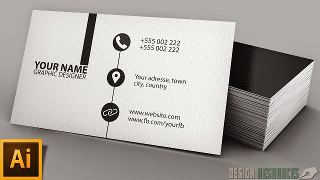 Clean Modern Business Card — Illustrator Tutorial