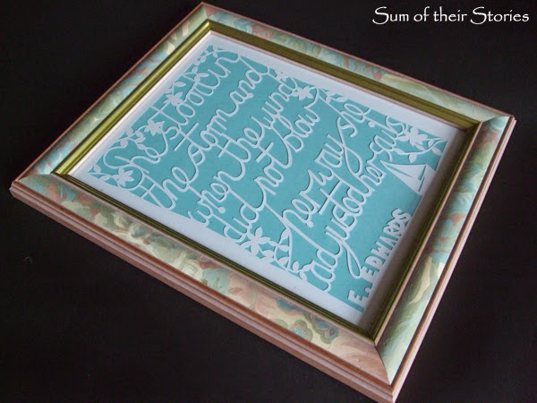 DIY artwork using paper and quotes