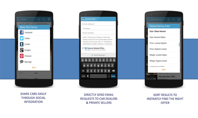 CONTACT and share on-the go!