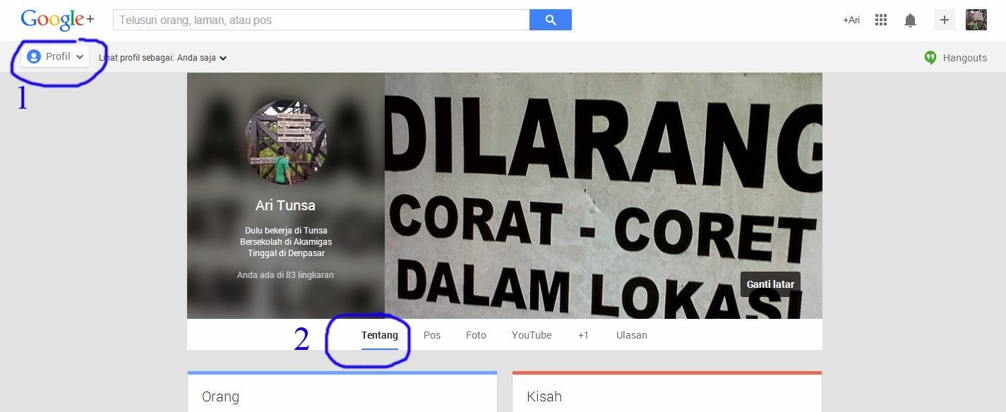 Cara Mengganti URL Khusus Google Plus