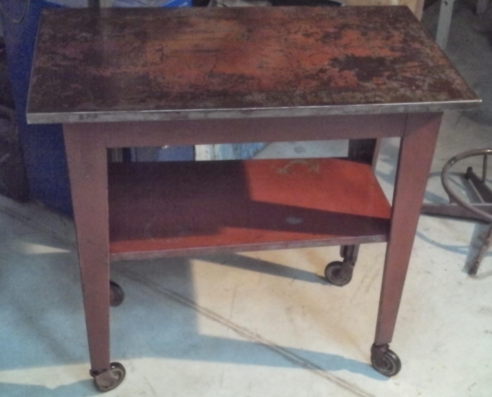 Tabli Table D 39 Atelier T Le Garage Ancien M Tal Bross Acier Design Loft Bureau Desserte Au