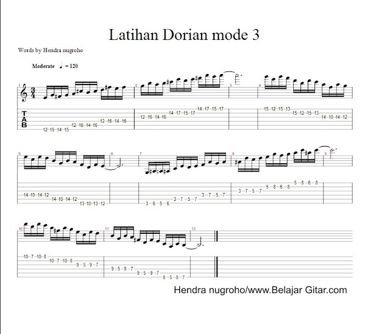 latihan dorian mode 3 - page 1