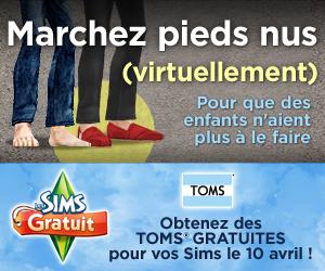 Les Sims GRATUIT, partenaire de la Journée sans chaussures