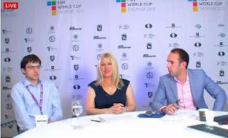 Maxime Vachier-Lagrave interviewé après sa victoire du jour © site officiel