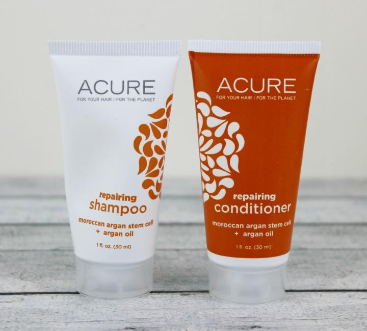 Acure Organics Moroccan Argan Oil + Argan Stem Cell Triple Moisture Shampoo & Conditioner samples