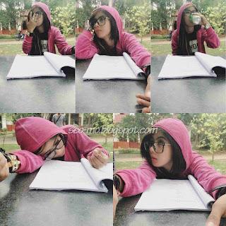 Foto Cantik Indri Barbie Jaket Kerudung
