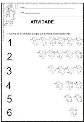 A ovelhinha - Atividade de matemática