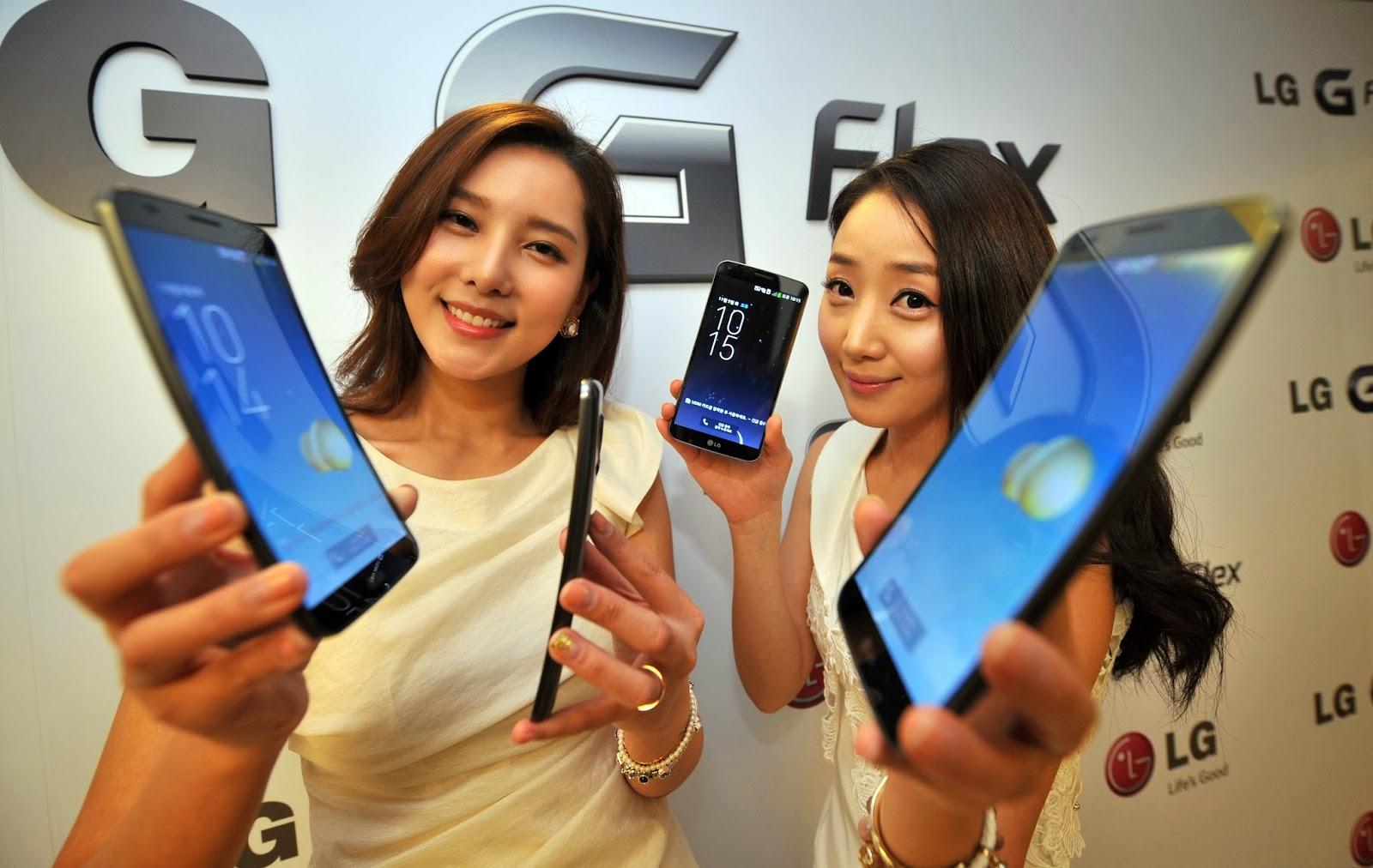 LG, Smartphone, Phone, Technology, Telecom, Korea, Flex, 2014, Flex, Curved Display Screen, Mobile, Business, Economy,