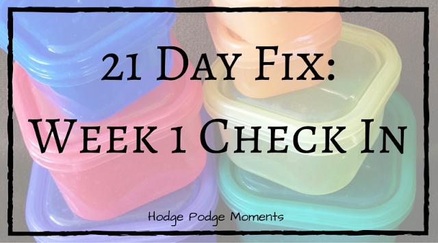 21 Day Fix Week 1 Update