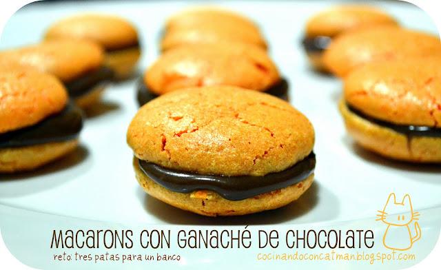 Macarons con ganaché de chocolate (paso a paso)