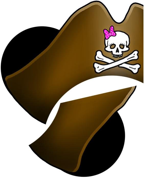 Minnie Mouse: Sombrero Pirata con Orejas para Imprimir Gratis ...