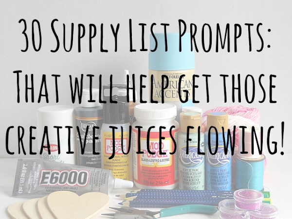 30 Supply List Prompts