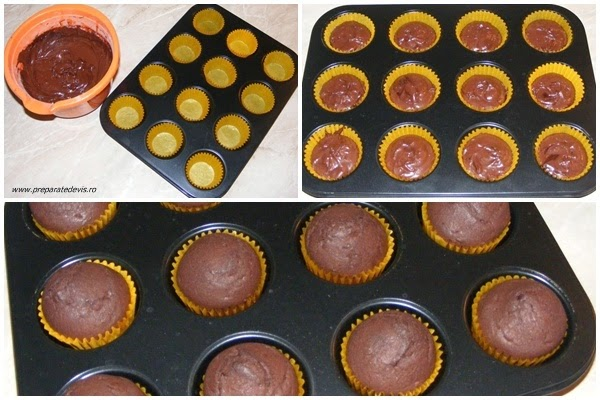 madlene, briose, preparare madlene cu cacao, preparare briose cu cacao, preparare dulciuri si prajituri, retete culinare, dulciuri, prajituri, deserturi, madlene cu ciocolata, briose cu ciocolata,