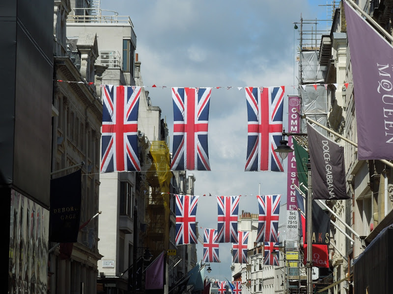 Bond Street Diamond Jubilee Union Jacks London