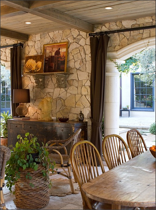 Home of stone stone veneer gives instant country glam for Instant interior wall