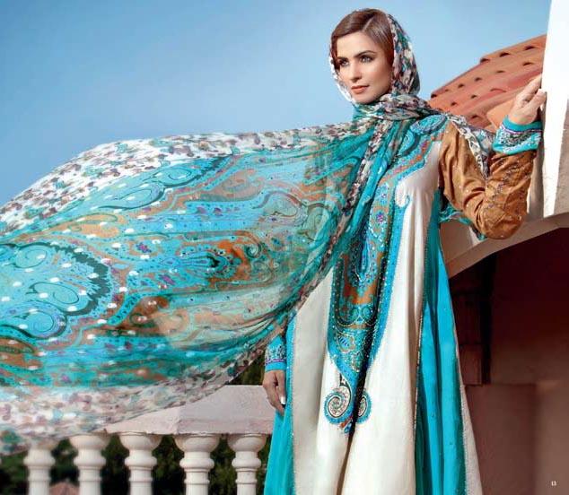 GulAhmadwwwourladiescollectioncom2 - Gul Ahmed Cambric Winter Collection 2012-13 -