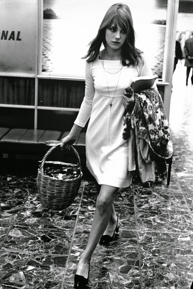 jane birkin in mini dress