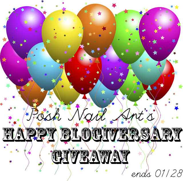 Posh Nail Art's Happy Blogiversary Giveaway